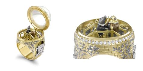 magical rings  secret compartments inspired  famous