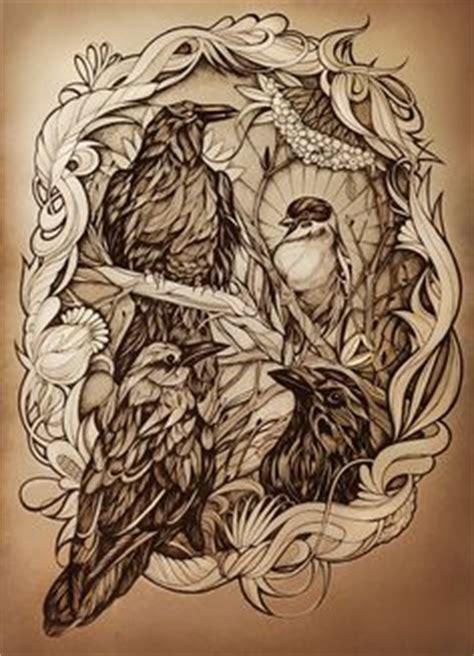 Line Drawing Leaves Twisting Tree Ellfi