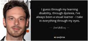 Scoot McNairy q... Learning Difficulty Quotes