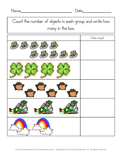 st s day worksheets st s day counting