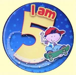 5th Birthday Badge Skateboarder Party Wizard