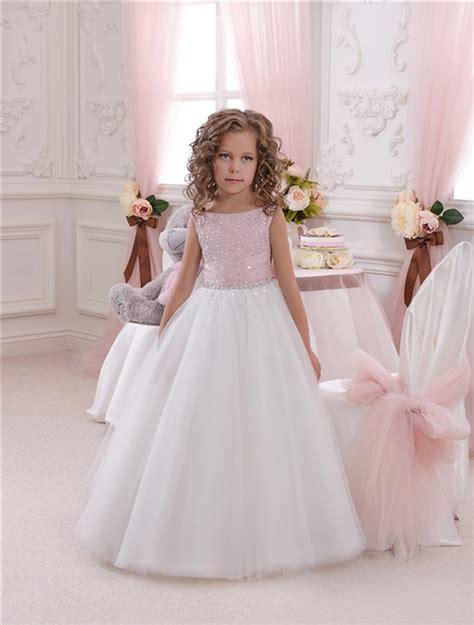 flower girl dress pink white tutu dress babytutu