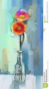 painting gerbera flowers stock illustration