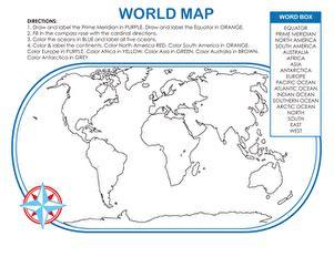 world map activity worksheet education com