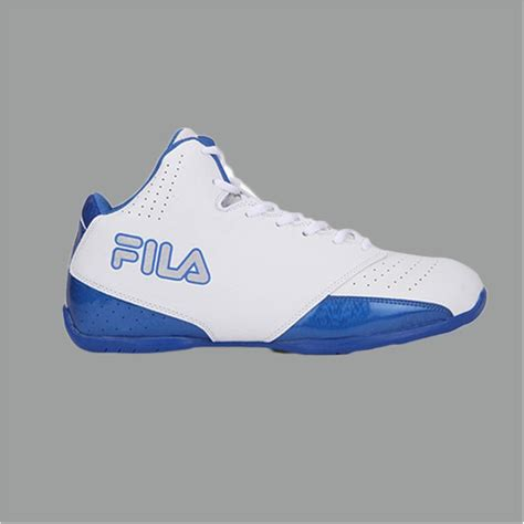 fila reversal white  blue basketball shoes buy fila