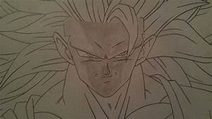 How To Draw Goku Super Saiyan 3 Part 2 Shading Anime