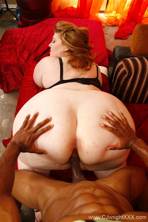 Interracial Bbw Sex With Huge Ass Fat Babe Red White And