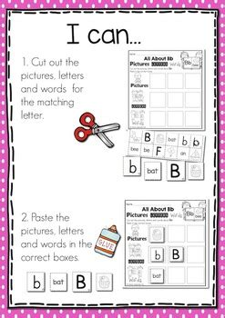 alphabet pictures letters words  rhonda baldacchino tpt