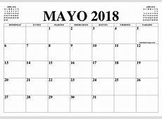 CALENDARIO MAYO 2018 2019 EL CALENDARIO MAYO 2018