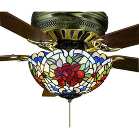 tiffany style ceiling fans with lights shop meyda tiffany 3 light mahogany bronze ceiling fan