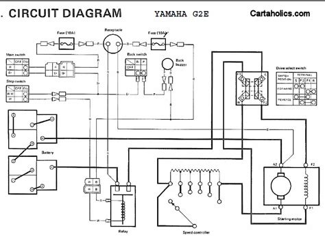 yamaha  electric golf cart wiring diagram cartaholics