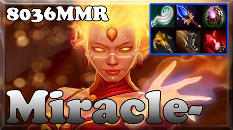 dota 2 miracle 8036mmr top 1 mmr in the world plays lina ranked gameplay youtube