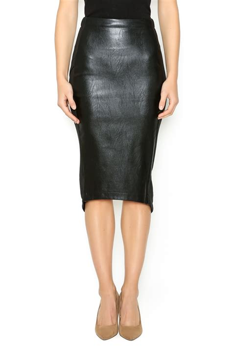 Hommage Edgy Leather Pencil Skirt from Arkansas by MADDOX u2014 Shoptiques