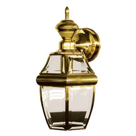 shop portfolio brass  gold motion activated outdoor