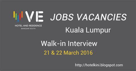Kitchen Helper Vacancy In Kuala Lumpur by Ve Hotel Residence Bangsar South Kuala Lumpur