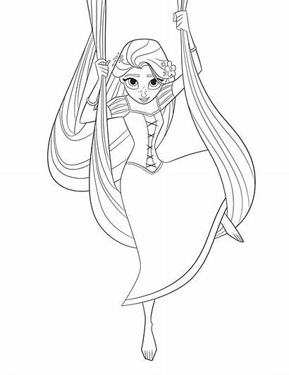 Tangled Rapunzel Coloring Pages Series Ever Disney