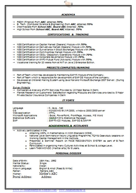 Free Professional Resume Format by 10000 Cv And Resume Sles With Free
