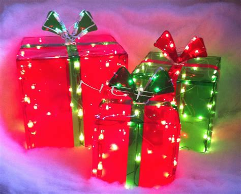 christmas  lighted gift boxes indooroutdoor  lights