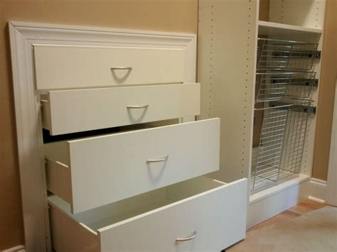 closet storage drawers white drawers for a closet roselawnlutheran