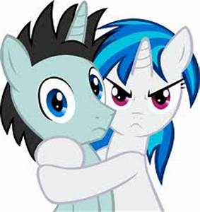 Image Vinyl Scratch hugging Neon Lights My Little