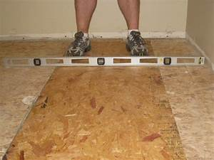 Level an uneven crowning subfloor by planing sanding for How to fix uneven floors