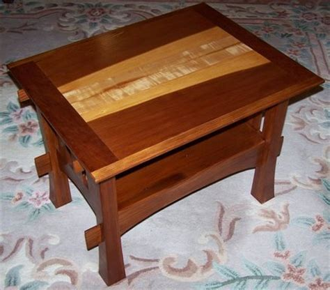 arts and crafts coffee table arts crafts coffee table from redwood and curly cherry