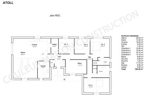 plan maison plain pied 4 chambres plan maison 4 chambres plain pied gratuit images