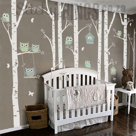baby boy bedroom themes the owl nursery wall vinyl forest owl nursery decals 14082 | Owl Nursery Wall Vinyl