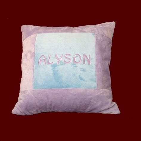 personalized minky pillow large pillows smocked treasures
