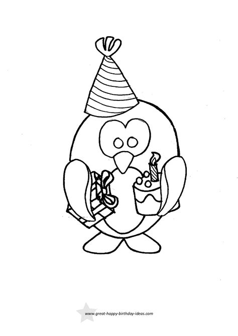 Coloring Ideas by Printable Birthday Coloring Pages