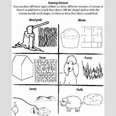 Drawing Textures Worksheet By Visual Voice  Teachers Pay Teachers