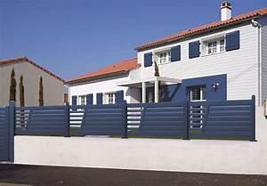 Cloture Maison Moderne : cloture maison moderne barriere en bois pour jardin exoteck ~ Melissatoandfro.com Idées de Décoration