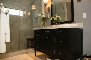 black vanity contemporary bathroom jeff lewis design - Black Vanity Bathroom Ideas