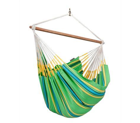 chaise hamac suspendu chaise hamac lounger colombienne currambera vert la siesta