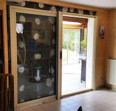 baie 224 galandage 1 vantail en aluminium blanc 224 villefranche sur sa 244 ne fenetres et portes