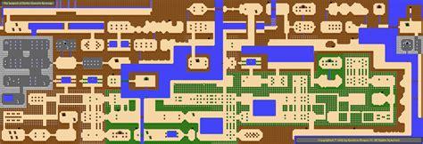 sizes overworld map   legend  zelda ganons
