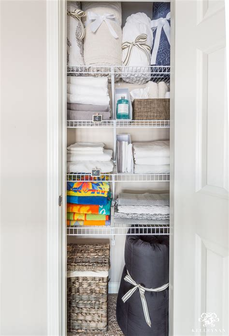 Organizing The Linen Closet by A Small Organized Linen Closet And Ideas To Store Bulky