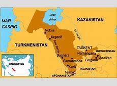Uzbekistan Mapa Asia
