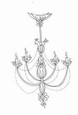 Chandelier Coloring Embroidery Hand Pages Bird Pdf Etsy Lily Patterns Graphics Mandala Pattern Clipart Round Chandeliers sketch template