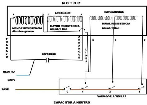 diagrama de conexion ventilador teclas diagramas electricos  electronicos electricidad