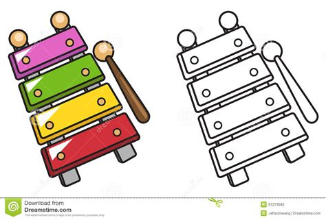 colorful  black  white xylophone  coloring book