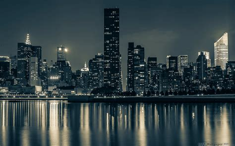 Hermosas vistas de los rascacielos de Manhattan. Amplia la ...
