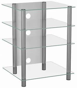 Hifi Regal Glas : vcm bilus hifi rack regal tisch alu glas klarglas ~ Indierocktalk.com Haus und Dekorationen