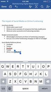 Tackle your next group project with word for ipad and for Word documents for iphone