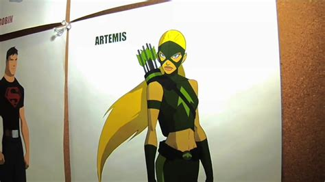major young justice artemis info revealed spoilers