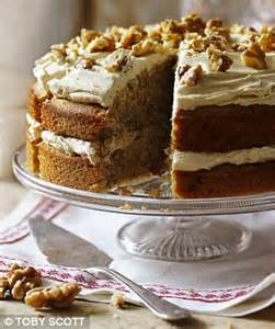 Stir in the chopped walnuts. Let's go nuts! Coffee and walnut cake recipe | Daily Mail Online