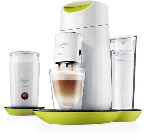 Twist & Milk Kaffeepadmaschine und Milchaufschäumer HD7874