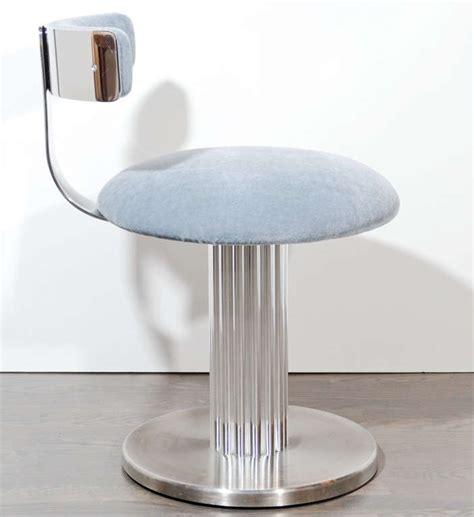 modernist klismos back swivel vanity stool at 1stdibs