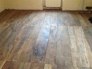 plancher ancien en chataignier lames larges antiquaire With plancher ou parquet