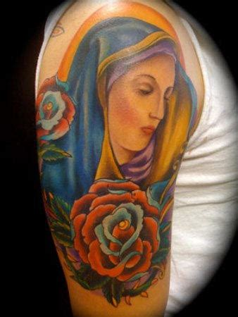 virginmary tattoo  shoulder